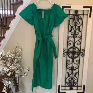 J crew green size 14 dress off the shoulders or up